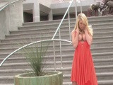 Awesome Teen Blonde Outdoor Flashing