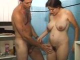 Pregnant french girl treated by her man.